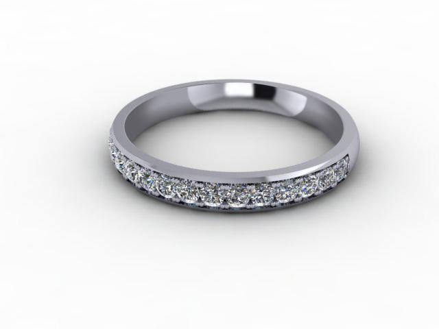 0.36cts. 1/2 18ct White Gold Wedding Ring Ring