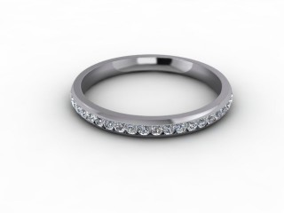 0.34cts. 3/4 18ct White Gold Wedding Ring Ring-W88-05712