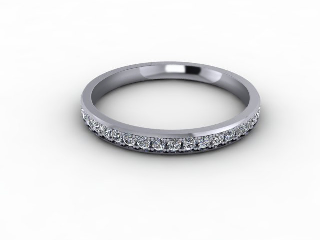 0.39cts. Full 18ct White Gold Wedding Ring Ring