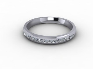 0.39cts. 1/2 18ct White Gold Wedding Ring-W88-05720