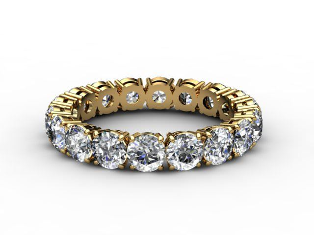 All Diamond Wedding Ring 2.63cts. in 18ct. Yellow Gold