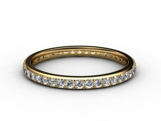 All Diamond Wedding Ring 0.40cts. in 18ct. Yellow Gold-W88-18084