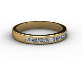 All Diamond Wedding Ring 0.65cts. in 18ct. Yellow Gold-W88-18086