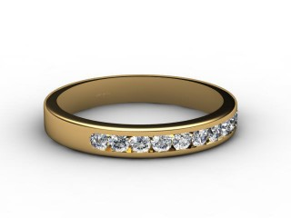 All Diamond Wedding Ring 0.33cts. in 18ct. Yellow Gold-W88-18087