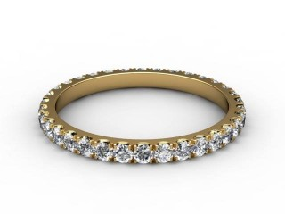 All Diamond Wedding Ring 0.72cts. in 18ct. Yellow Gold-W88-18115