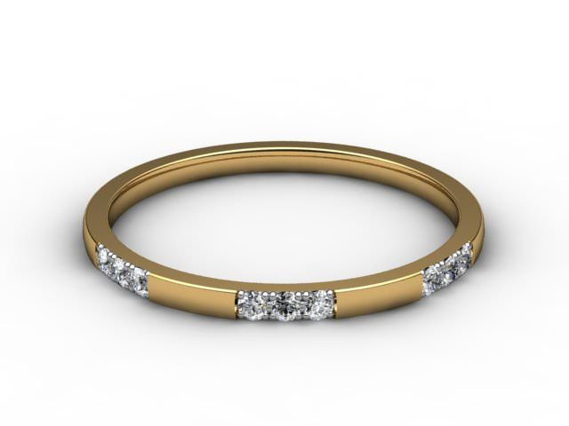 All Diamond Wedding Ring 0.18cts. in 18ct. Yellow Gold