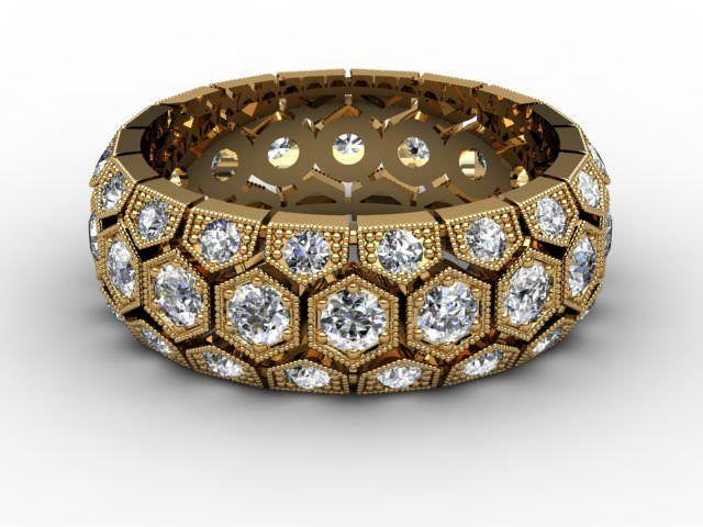 All Diamond Wedding Ring 2.00cts. in 18ct. Yellow Gold