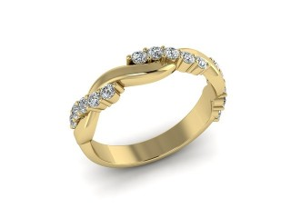All Diamond Wedding Ring 0.33cts. in 18ct. Yellow Gold-W88-18201