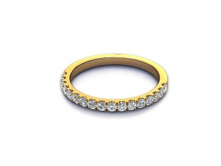 All Diamond Wedding Ring 0.36cts. in 18ct. Yellow Gold-W88-18520