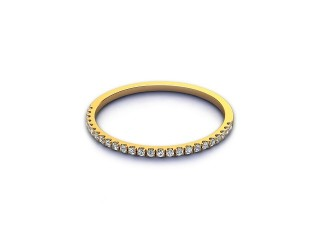 All Diamond Wedding Ring 0.10cts. in 18ct. Yellow Gold-W88-18524