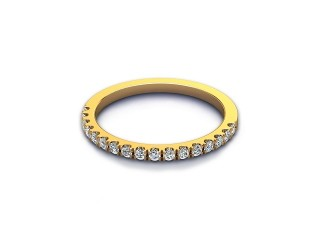 All Diamond Wedding Ring 0.22cts. in 18ct. Yellow Gold-W88-18525