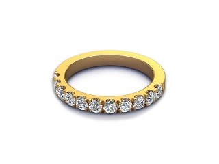 All Diamond Wedding Ring 0.65cts. in 18ct. Yellow Gold-W88-18526