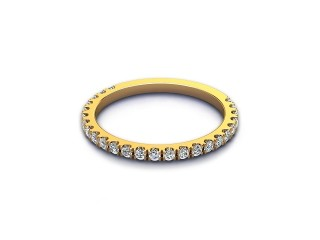 All Diamond Wedding Ring 0.33cts. in 18ct. Yellow Gold-W88-18528