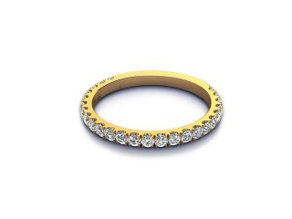 All Diamond Wedding Ring 0.55cts. in 18ct. Yellow Gold-W88-18529
