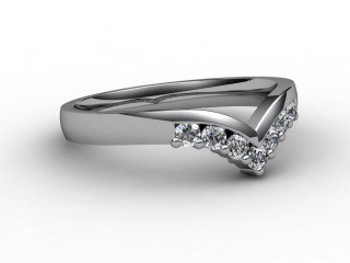 All Diamond Wedding Ring 0.25cts. in Palladium-W88-66015