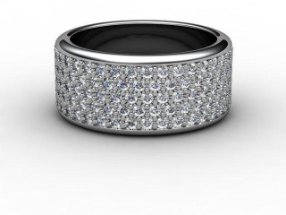 All Diamond Wedding Ring 1.20cts. in Palladium-W88-66031