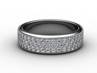 All Diamond Wedding Ring 0.77cts. in Palladium-W88-66076