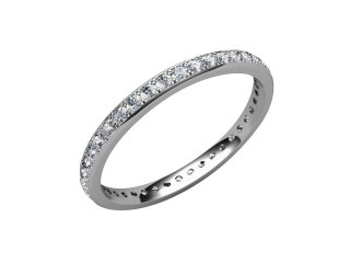All Diamond Wedding Ring 0.40cts. in Palladium-W88-66084