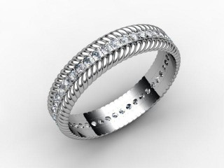 All Diamond Wedding Ring 0.44cts. in Palladium-W88-66111