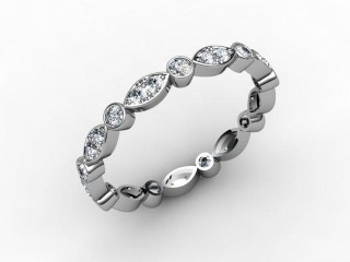 All Diamond Wedding Ring 0.56cts. in Palladium-W88-66112