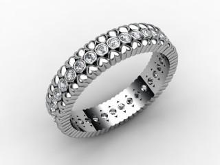 All Diamond Wedding Ring 0.34cts. in Palladium-W88-66113