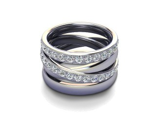 All Diamond Wedding Ring 1.75cts. in Palladium-W88-66123