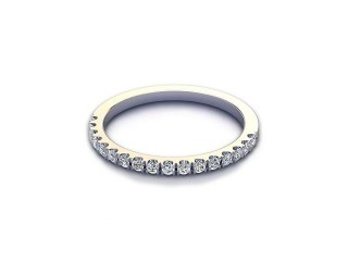 All Diamond Wedding Ring 0.22cts. in Palladium-W88-66525
