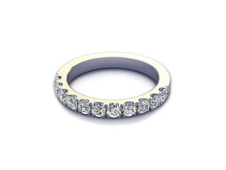 All Diamond Wedding Ring 0.65cts. in Palladium-W88-66526