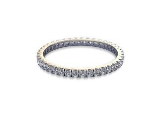 Full-Set Diamond Wedding Ring in Platinum: 1.7mm. wide with Round Split Claw Set Diamonds