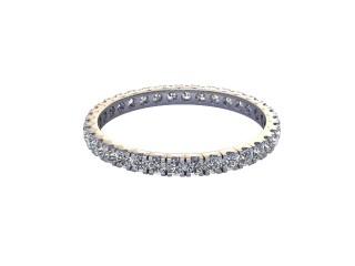Full-Set Diamond Wedding Ring in Platinum: 1.9mm. wide with Round Split Claw Set Diamonds