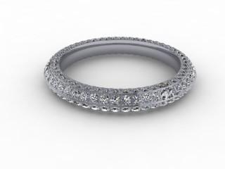 All Diamond Wedding Ring 1.30cts. in Platinum