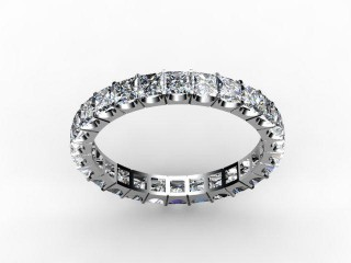 All Diamond Wedding Ring 3.00cts. in Platinum - 15