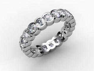 All Diamond Wedding Ring 2.11cts. in Platinum