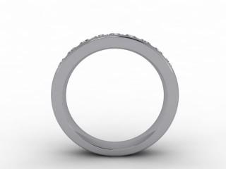 All Diamond Wedding Ring 1.04cts. in Platinum