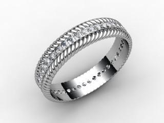 All Diamond Wedding Ring 0.44cts. in Platinum - 3