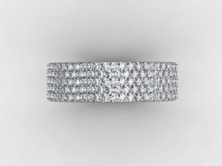 All Diamond Wedding Ring 1.25cts. in Platinum