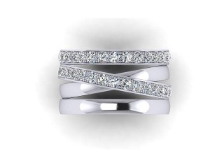 All Diamond Wedding Ring 1.75cts. in Platinum