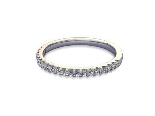 Half-Set Diamond Wedding Ring in Platinum: 1.7mm. wide with Round Shared Claw Set Diamonds-W88-01215.17