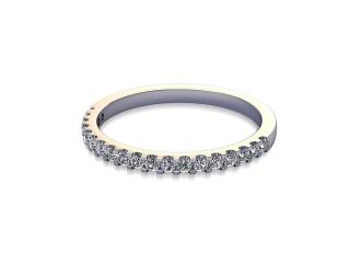 Half-Set Diamond Wedding Ring in Platinum: 1.7mm. wide with Round Shared Claw Set Diamonds-W88-01216.17