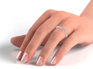All Diamond Wedding Ring 0.45cts. in Platinum