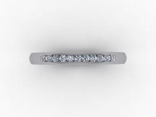 0.13cts. 1/4 Platinum Wedding Ring Ring