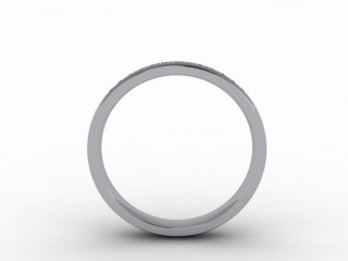 0.18cts. 1/3 Platinum Wedding Ring Ring
