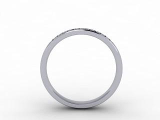 0.14cts. 1/3 Platinum Wedding Ring Ring