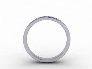 0.20cts. 1/4 Platinum Wedding Ring Ring