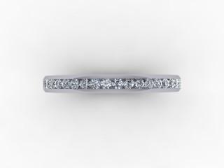 0.34cts. 3/4 Platinum Wedding Ring Ring