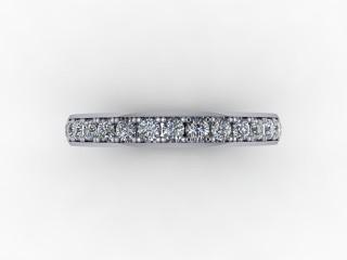 0.62cts. Full Platinum Wedding Ring Ring