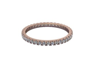Full-Set Diamond Wedding Ring in 18ct. Rose Gold: 1.7mm. wide with Round Split Claw Set Diamonds-W88-04044.17