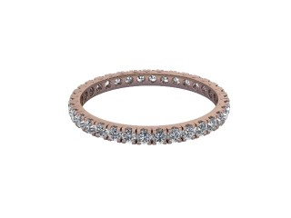 Full-Set Diamond Wedding Ring in 18ct. Rose Gold: 1.9mm. wide with Round Split Claw Set Diamonds-W88-04044.19