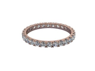 Full-Set Diamond Wedding Ring in 18ct. Rose Gold: 2.1mm. wide with Round Split Claw Set Diamonds-W88-04044.21