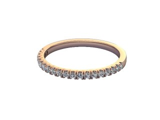 Half-Set Diamond Wedding Ring in 18ct. Rose Gold: 1.7mm. wide with Round Split Claw Set Diamonds-W88-04045.17